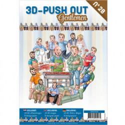 Stansboek Gentleman, 24 afbeeldingen en 8 designpapier, 3DPO10028 (Locatie: 0942)