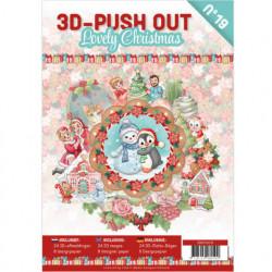 Stansboek Lovely Christmas, 24 afbeeldingen en 8 designpapier, 3DPO10019 (Locatie: 0409)