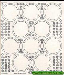 Starform sticker transparant zilver 3102 (Locatie: 5508)