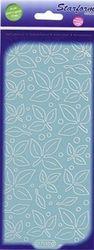 Starform sticker velvet blaadjes light blue 7110 (Locatie: B357)