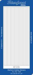 Starform sticker velvet lijnen white 1149 (Locatie: B346 )