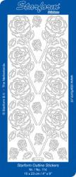 Starform sticker zilver bloemen 114 (Locatie: HH150)