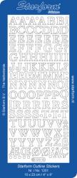 Starform sticker zilver letters 1251 (Locatie: i560)