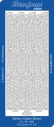 Starform sticker zilver randje 1263 (Locatie: L220)