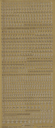 Starform stickervel alfabet goud 1000 (Locatie: K080)