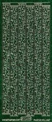 Starform stickervel bloemslingers glitter groen 7045 (Locatie: U043)
