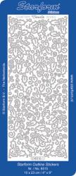 Starform stickervel kerst zilver 8515 (Locatie: N68)