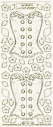 Starform stickervel korset transparant glitter goud 3191 (Locatie: f002)