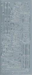 Starform stickervel wintersport zilver 1212 (Locatie: u029)