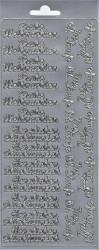 Sticker zilver frohe weihnachten 3623 (Locatie: H264)