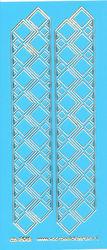 Stickervel blauw/goud nr. 3012 (Locatie: K171 )
