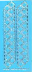 Stickervel blauw/zilver nr. 3012 (Locatie: K170 )
