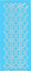 Stickervel blauw/zilver nr. 3022 (Locatie: K127 )