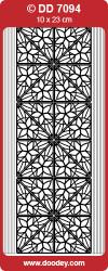 Stickervel hoekjes/rand zilver DD7094 (Locatie: ZZ024)