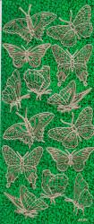 Stickervel holografisch groen vlinders 2036 (Locatie: j416)