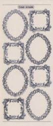 Stickervel kaders transparant zilver MD358605 (Locatie: t086)