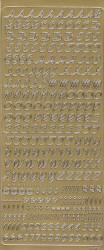 Stickervel letters goud 1860 (Locatie: r028)