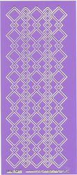 Stickervel paars/goud nr. 3022 (Locatie: K124 )