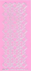 Stickervel roze/zilver nr. 3022 (Locatie: K125 )