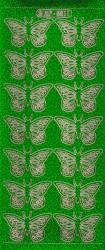 Stickervel vlinders groen holografisch XP5811 (Locatie: zz130)