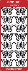 Stickervel vlinders zilver holografisch XP5811 (Locatie: g079)
