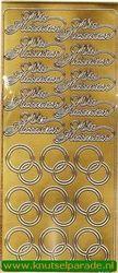 Stickervel Wir Heiraten goud 3641 (Locatie: U271)