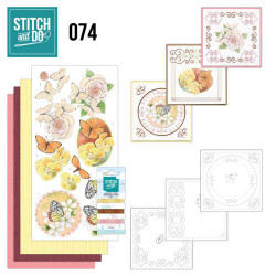 Stitch and Do 74 Vlinders en Bloemen STDO074