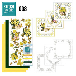 Stitch and Do 8 Gele bloemen STD0008