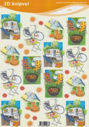 Voorbeeldkaarten knipvel vakantie 2288 (Locatie: 6106)
