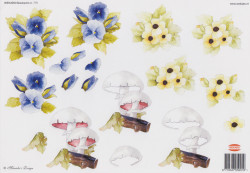 Wekabo knipvel bloemen/paddestoel 775 (Locatie: 6203)