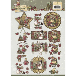Yvonne Creations knipvel kerstmis CD10955 (Locatie: 5556)