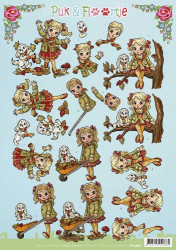 Yvonne Creations knipvel Puk en Floortje CD10946 (Locatie: 1444)