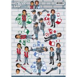 Yvonne Creations knipvel Wild Boys CD11011 (Locatie: 2590)