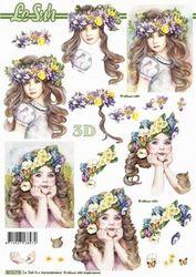 Le Suh knipvel Meisje met bloemen II 8215719 (Locatie: 2787)
