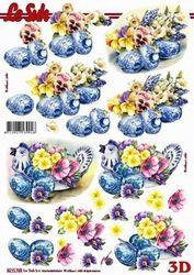 Le Suh knipvel Pasen Bloemen met Delfts blauw 8215769 (Locatie: 623)