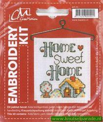 CM Aida borduurdoek compleet home sweet home 338799 (Locatie: 3RL6 )
