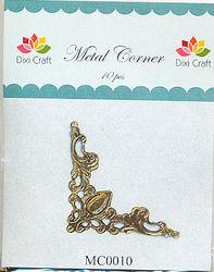 Dixi Craft Metal Corner 42x42 mm antiek brons 10 stuks MC0010 (Locatie: B378)