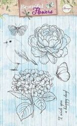 Studio Light stempel Beautiful Flowers STAMPBF143 (Locatie: 1A )