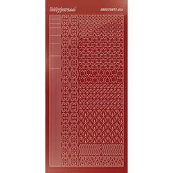 Hobbydots stickervel glanzend rood STDM124 (Locatie: N264 )