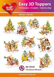 Hearty Crafts Easy 3D Toppers - Christmas Mooses HC10141 (Locatie: K2)