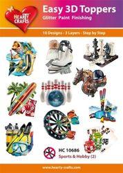 Hearty Crafts Easy 3D Toppers - Sport en Hobby 2 HC10686 (Locatie: K2)
