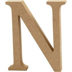 Letter N, hoogte 13 cm, dikte 2 cm, MDF, 1stuk (Locatie: KB)