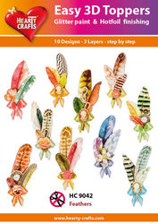 Hearty Crafts Easy 3D Toppers Feathers HC9042 (Locatie: K2)