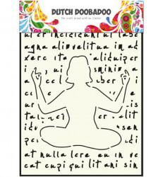 Dutch Doobadoo stencil A4 Yoga 470715804 (Locatie: 1624)