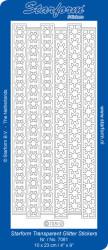 Starform sticker transparant glitter zilver 7081 (Locatie: J526)