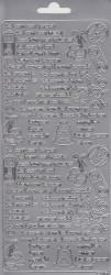 Stickervel zilver nr. 2110 (Locatie: B223)