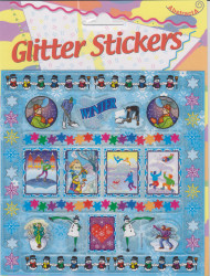Abstracta glitter stickers winter (Locatie: 1315)