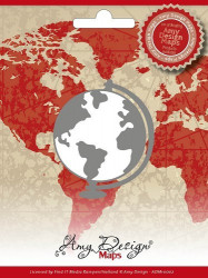 Amy Design snij- en embosmal Globe ADM10002 (Locatie: M88)