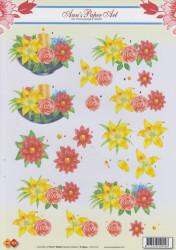 Ann's Paper art knipvel bloemen en kaars CD10116 (Locatie: 2333)