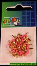 Brads 50 stuks rond pink 10829/08 (Locatie: 1A )